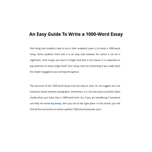 An Easy Essay